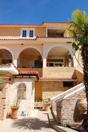 The luxury hotel restaurant exterior, Halkidiki, Greece Stock Photo - 14939672