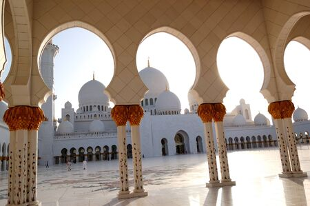 Sheikh Zayed Grand Mosque during sunset, Abu Dhabi, UAE