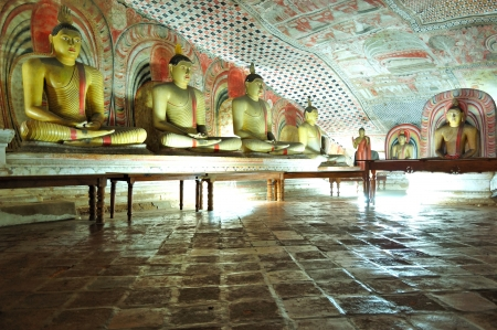 documented: DAMBULLA - OCTOBER 15: Dambulla cave temple is the large cave temple complex with more than 80 documented caves and 153 Buddha statues. October 15, 2011 in Dambulla, Sri Lanka.