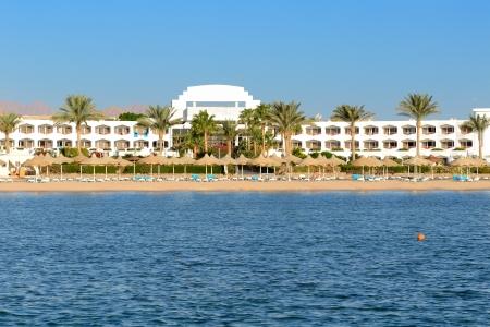 Beach at the luxury hotel, Sharm el Sheikh, Egypt Stock Photo - 16870306