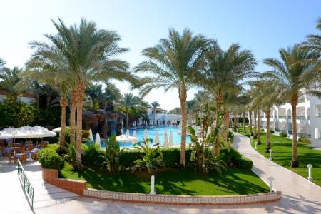 el sheikh: The swimming pool at luxury hotel, Sharm el Sheikh, Egypt Editorial