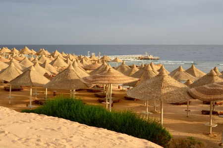 hurghada: The beach at luxury hotel, Hurghada, Egypt