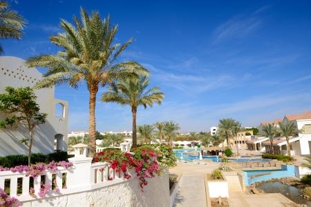 The swimming pool at luxury hotel, Sharm el Sheikh, Egypt