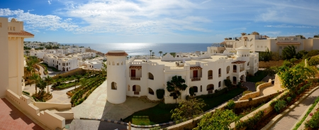 el sheikh: Panorama of the luxury hotel, Sharm el Sheikh, Egypt