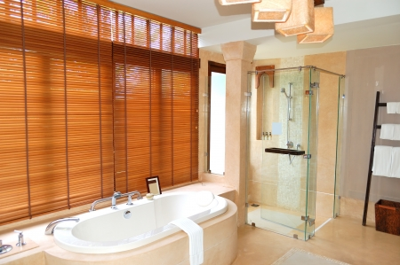 Bathroom at the luxury villa, Samui island, Thailand