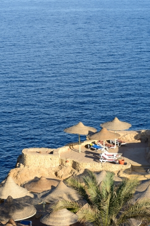 naama bay: Sunset at Naama Bay, Red Sea and beach, Sharm el Sheikh, Egypt