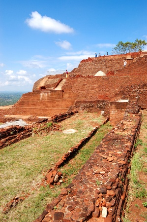 lions rock: The view from Sigiriya (Lions rock) is an ancient rock fortress and palace ruins, Sri Lanka Stock Photo