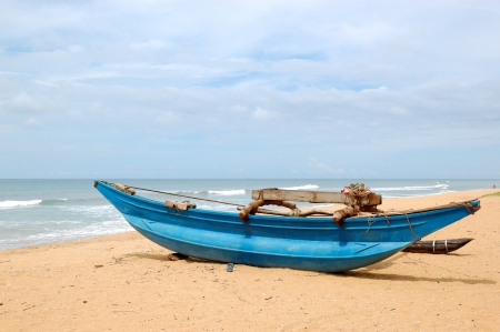 The traditional Sri Lanka's boat for fishing Stock Photo - 19339413