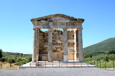 peloponnise: The mausoleum in ancient Messene (Messinia), Peloponnes, Greece