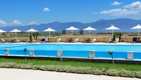peloponnes: Swimming pool at modern luxury hotel, Peloponnes, Greece