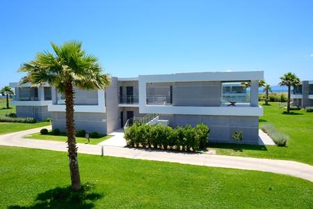 peloponnes: Modern villa at luxury hotel, Peloponnes, Greece Editorial