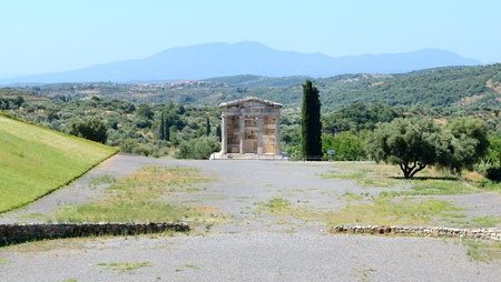 peloponnise: The mausoleum in ancient Messene  Messinia , Peloponnes, Greece