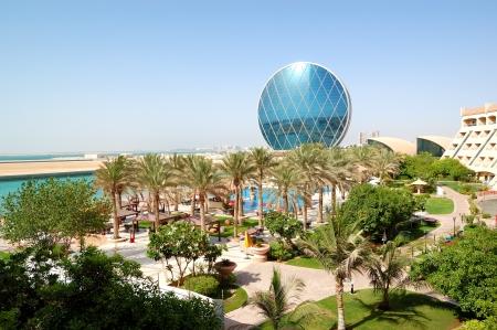 abu dhabi: The luxury hotel and circular building, Abu Dhabi, UAE