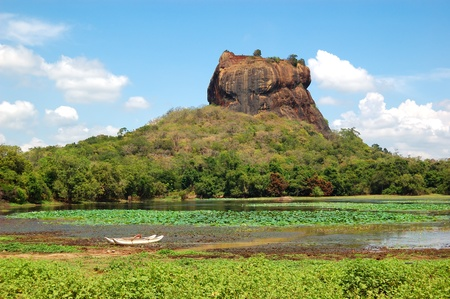 fortress: The Sigiriya  Lion Stock Photo