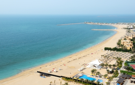 windtower: Beach of the luxury hotel, Ras Al Khaima, UAE