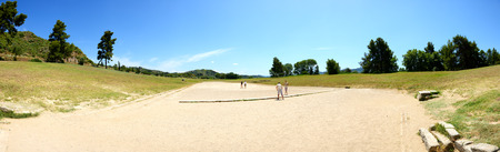peloponnise: The panorama of ancient Olympia Stadium, Peloponnes, Greece