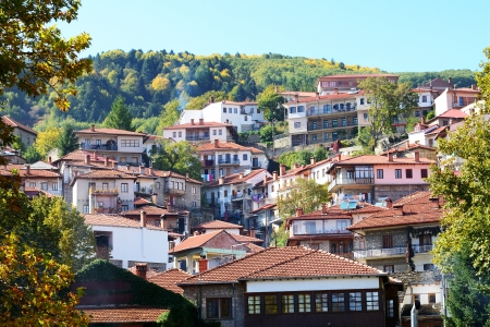 The houses in Metsovo Greek village, Greece photo