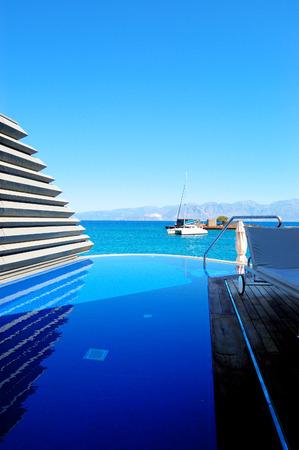 Holiday villas at luxury hotel, Crete, Greece photo