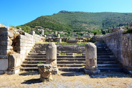 peloponnise: The ruins in ancient Messene  Messinia , Peloponnes, Greece
