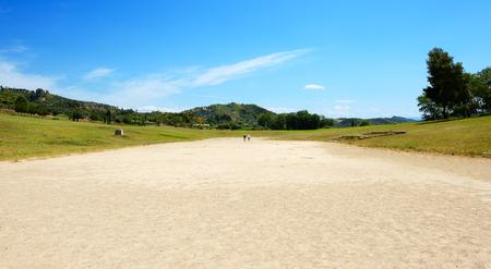 peloponnes: The ancient Olympia Stadium, Peloponnes, Greece