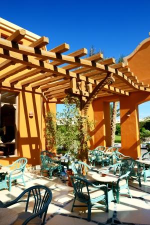 el sheikh: Outdoor restaurant at the luxury hotel, Sharm el Sheikh, Egypt Editorial