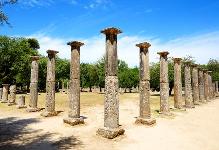 peloponnes: Theokoleon ruins in ancient Olympia, Peloponnes, Greece Stock Photo