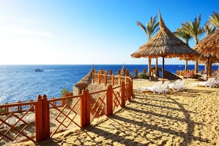Strand in het luxe hotel, Sharm el Sheikh, Egypte