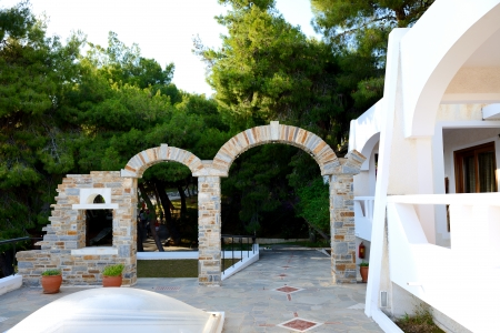 peloponnes: Decoration at modern luxury hotel, Peloponnes, Greece