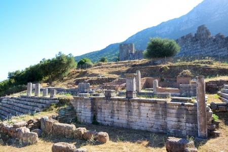 peloponnes: The ruins of Arcadian Gate, Peloponnes, Greece