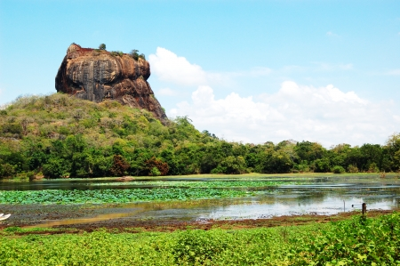 lions rock: The Sigiriya (Lions rock) is an ancient rock fortress and palace ruins, Sri Lanka Stock Photo