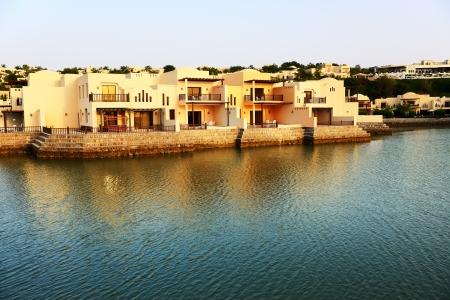 khaima: The luxury hotel during sunset, Ras Al Khaima, UAE Editorial