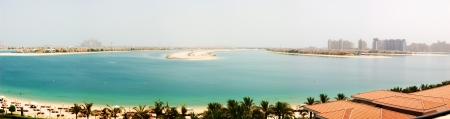 Panorama de la Palm Jumeirah isla artificial, Dubai, Emiratos �rabes Unidos photo
