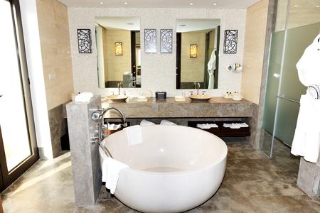 peloponnes: Bathroom in the modern luxury hotel, Peloponnes, Greece