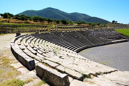peloponnes: The stadium in ancient Messene  Messinia , Peloponnes, Greece