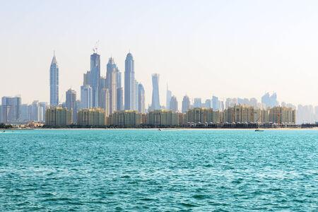 The view from Palm Jumeirah man-made island on Dubai city, UAE photo