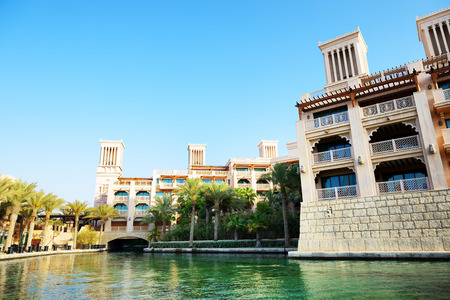 windtower: View of the Souk Madinat Jumeirah, Dubai, UAE