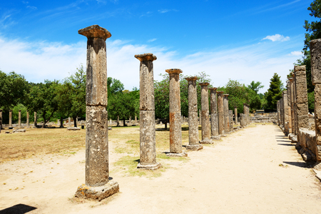 peloponnise: Theokoleon ruins in ancient Olympia, Peloponnes, Greece Stock Photo