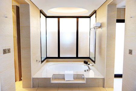 Bathroom in the luxury hotel, Dubai, UAE