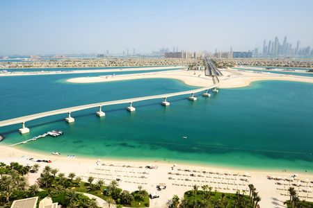 Ver en el Palm Jumeirah isla artificial, Dubai, Emiratos �rabes Unidos photo