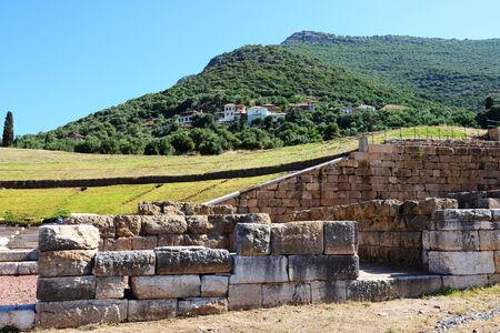 peloponnes: The ruins in ancient Messene  Messinia , Peloponnes, Greece