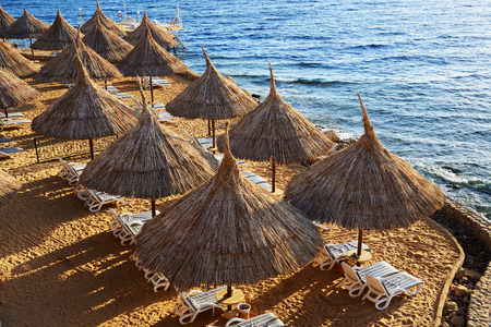 el sheikh: Beach at the luxury hotel, Sharm el Sheikh, Egypt