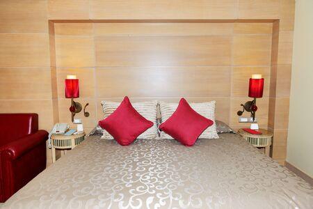 Bedroom in the luxury hotel, Antalya, Turkey photo