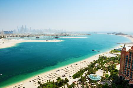 View on Jumeirah Palm man-made island, Dubai, UAE photo