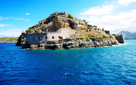 The fortress on Spinalonga Island, Crete, Greece photo