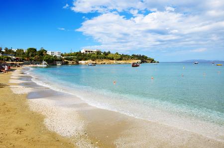 The beach at luxury hotel, Crete, Greece photo