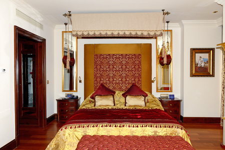 ANTALYA, TURKEY - APRIL 23: The Apartment of Mardan Palace luxury hotel, it is considered Europes most expensive luxury resort on April 23, 2014 in Antalya, Turkey. It is was opened in 2009 and costs $1.4 billion.