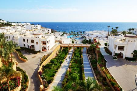 el sheikh: Buildings of the luxury hotel, Sharm el Sheikh, Egypt Editorial