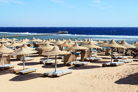 sharm el sheikh: Beach at the luxury hotel, Sharm el Sheikh, Egypt