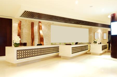 De lobby van luxehotel, Dubai, Verenigde Arabische Emiraten