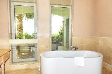 luxury bathroom: The bathroom in luxury hotel, Bodrum, Turkey Editorial